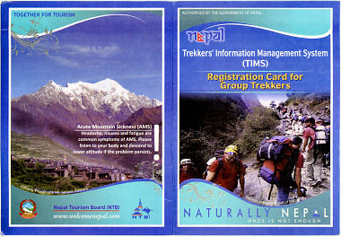 TIMS Card for Annapurna Trekking